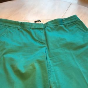Turquoise cotton cropped J Crew pant